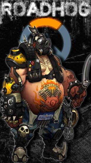 Overwatch Roadhog Wallpaper I made for my phone