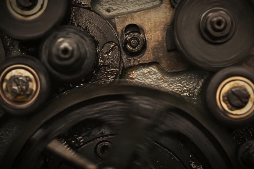 Close-up of rotating gears. Background Stock Video Footage - VideoBlocks