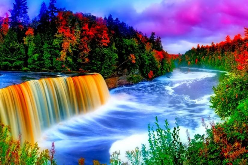 waterfall background 2560x1600 picture