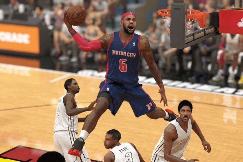 NBA2KTop5 NBA 2K14 : LeBron James alley-oop dunk over Chris Paul - YouTube