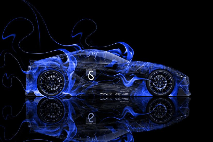 ... Toyota-FT-1-Blue-Fire-Abstract-Car-2014- ...