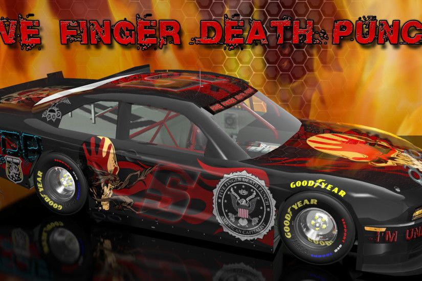 ... Single Car Alt Version | 16x10 | 16x10 Single Car Alt Version Five  Finger Death Punch Wicked Ford Mustang Wallpaper ...