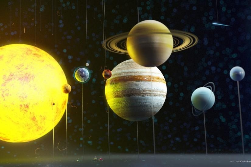 The Solar System 3D HD Wallpaper - Pics about space 3d Solar System  Wallpaper