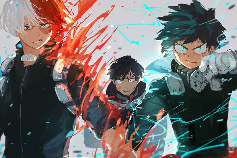 Anime - My Hero Academia Shouto Todoroki Izuku Midoriya Tenya Iida Wallpaper