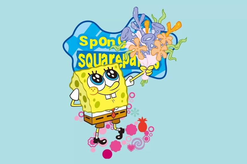 2048x2048 Spongebob Flower Background Happy spongebob 5 HTML code