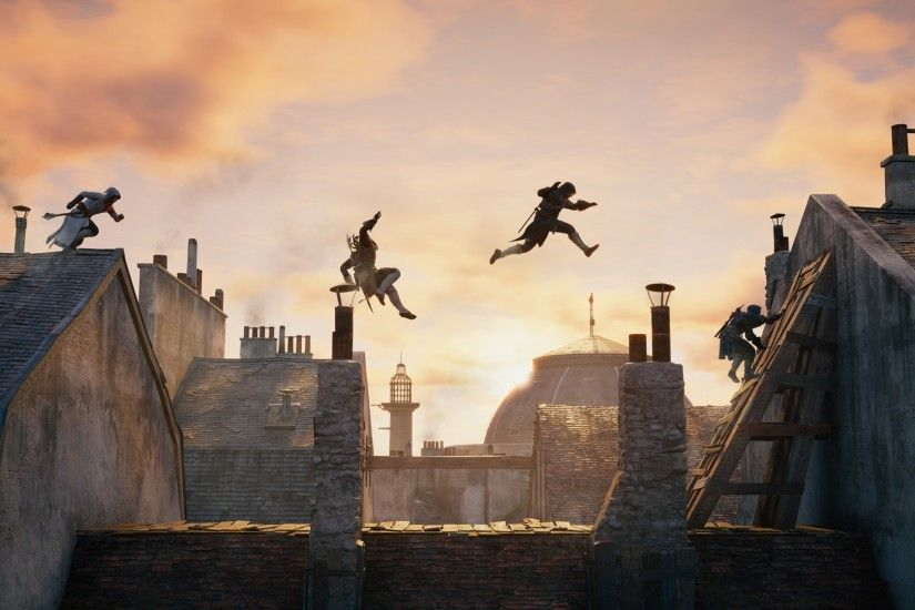 Assassins Creed, Video Games, Rooftops, Parkour, Sequence Photography  Wallpapers HD / Desktop and Mobile Backgrounds