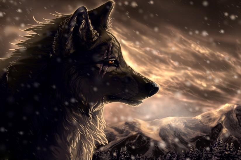 Anime Wolves Wallpapers HD Resolution b