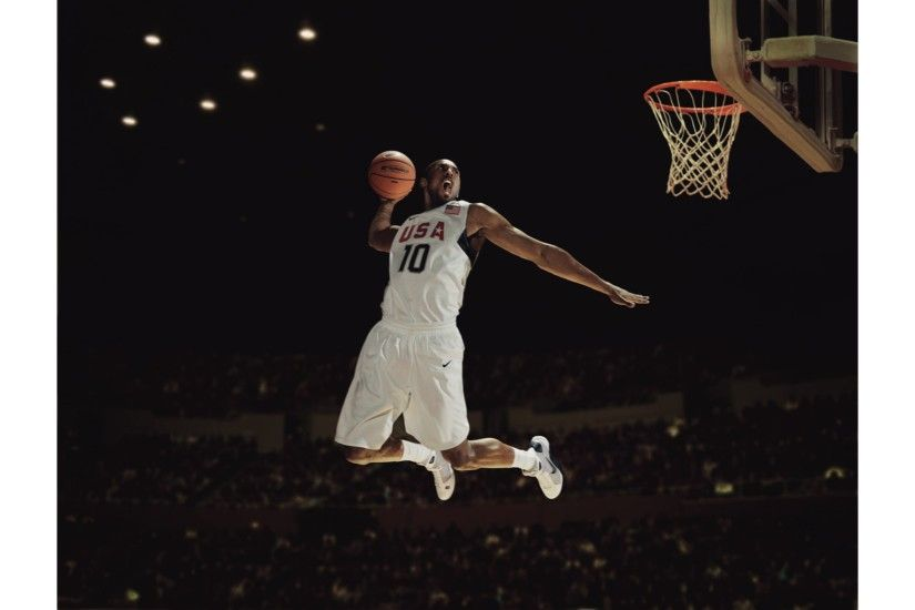 Team USA Dunk 4K Kobe Bryant Wallpaper