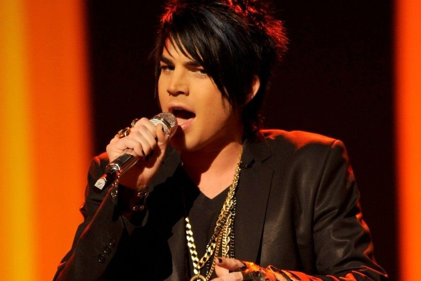 1920x1080 Wallpaper adam lambert, rocker, microphone, scene, sing