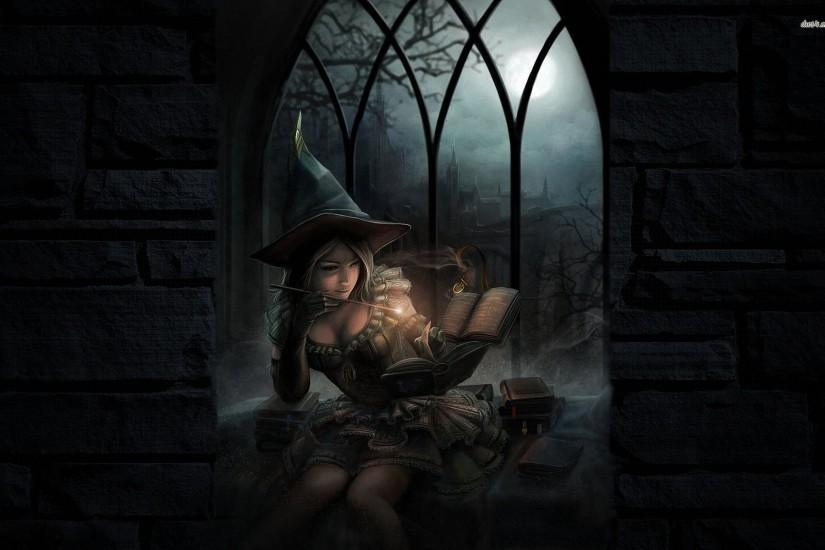Witch Casting A Spell Wallpaper