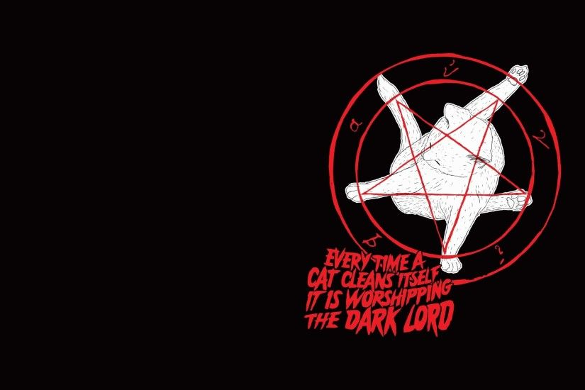 Cats pentagram satanism wallpaper