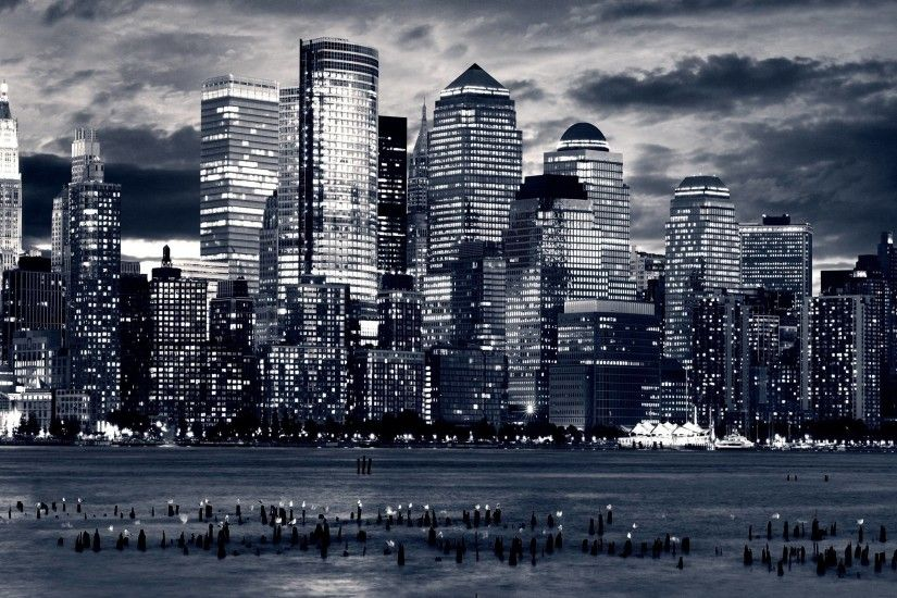 Black And White City Wallpaper For Walls 13625 Full HD Wallpaper .