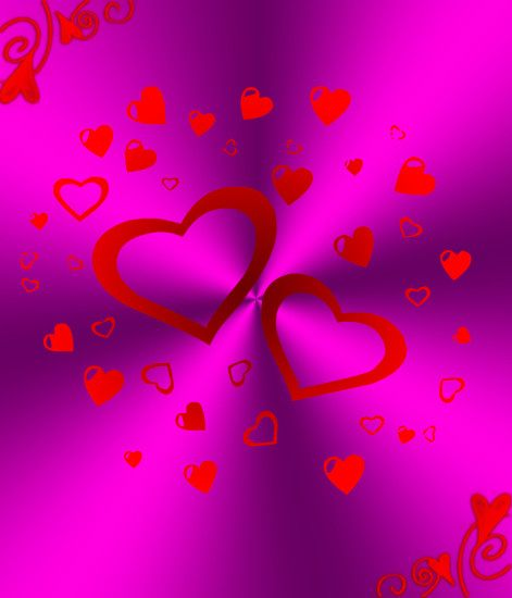 ... Purple And Red Hearts Background by Princessdawn755