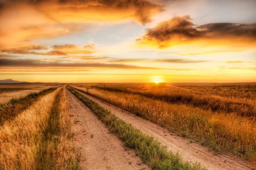 Dirt-Road-Sunset-Wallpaper-Background-For-PC