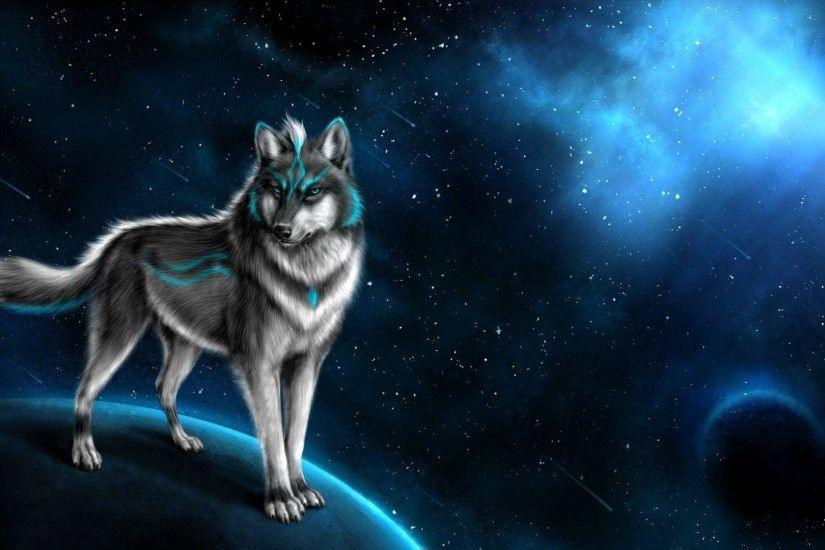 Mystical wolf wallpaper - Fantasy wallpapers - #