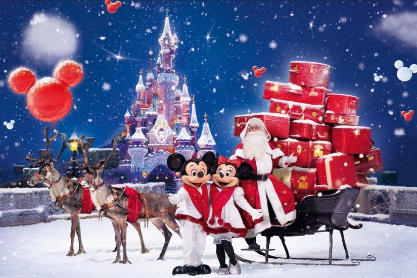 christmas wallpapers santa claus gifts wishes greetings micky mouse