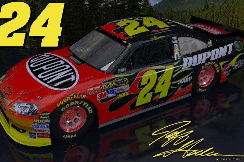 Jeff Gordon Dupont Outdoor Version 2 Wallpaper with a nice mountain .