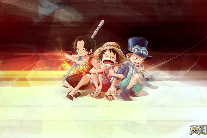 Ace, Sabo and Luffy on One Piece Anime Wallpaper