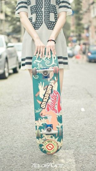 1080x1920 Skateboard Girl Wallpaper - Free iPhone Wallpapers