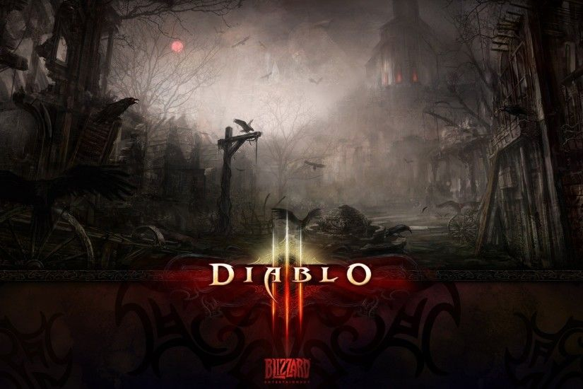 1920x1080 Wallpaper diablo 3, city, twilight, moon, name