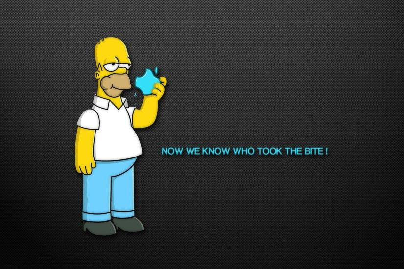The Simpsons Funny Mac Wallpapers With Homer Simpson Background