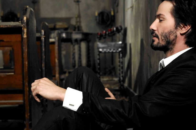 Preview wallpaper keanu reeves, actor, profile, beard, room 1920x1080