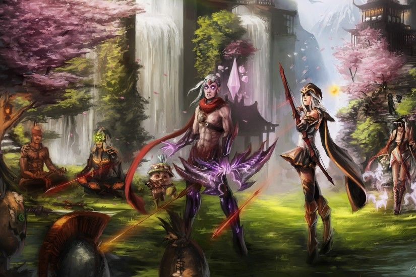 General 2560x1600 League of Legends varus Ashe Lee Sin Teemo Ahri  Fiddlesticks Master Yi video games