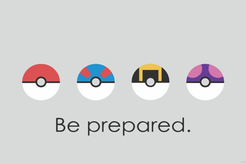 Be Prepared Poke Balls for 2560x1440