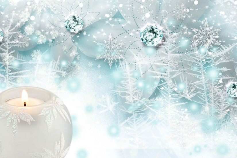 Jewels Tag - Ice Candle Snow Jewels Blue Light Winter Delicate Bright  Flowers Snowing Persona Christmas