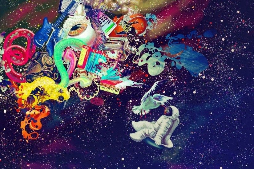 Rainbow Astronaut Wallpaper (page 2) - Pics about space