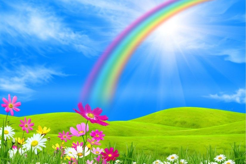 rainbow backgrounds for desktop hd backgrounds