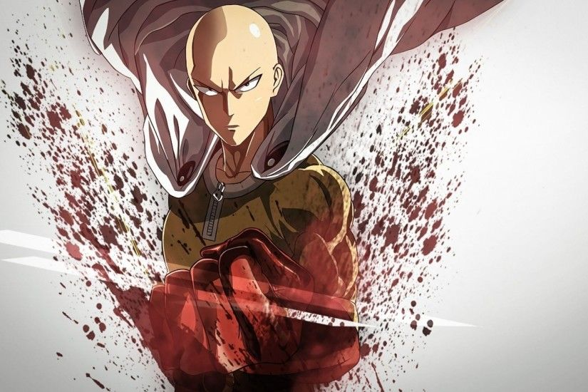 saitama one punch man hd wallpaper