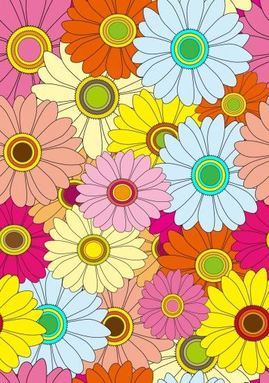 Floral Colorful Flowers Wallpaper