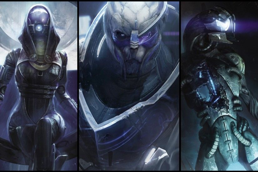 Video Game - Mass Effect Tali'Zorah Garrus Vakarian Legion (Mass Effect)  Wallpaper
