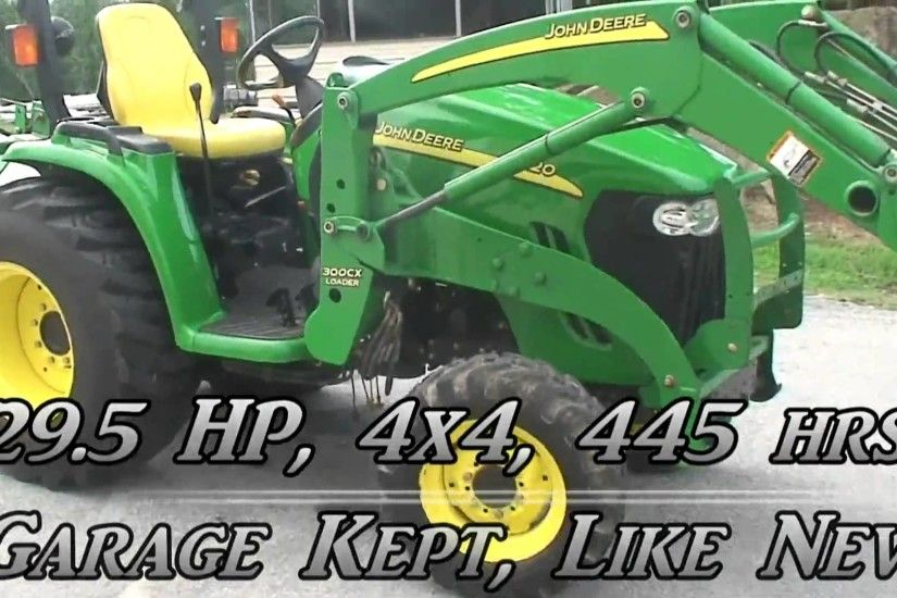 John Deere 3120 utility tractor with 4wd, hydro transmission, and 300cx  loader - YouTube