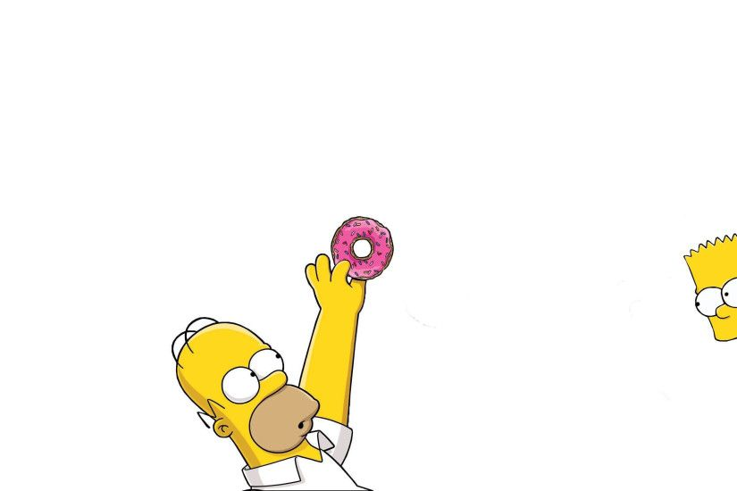 TV Show - The Simpsons Homer Simpson Bart Simpson Wallpaper