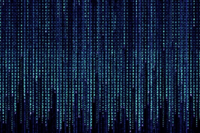 Matrix Code Wallpapers, Free Falling Blue Matrix Code HD Wallpapers .