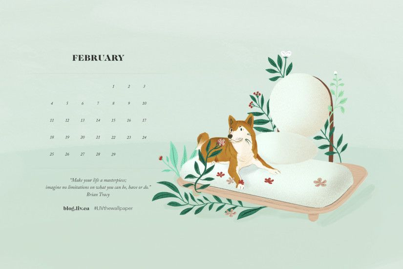 February Desktop Wallpaper