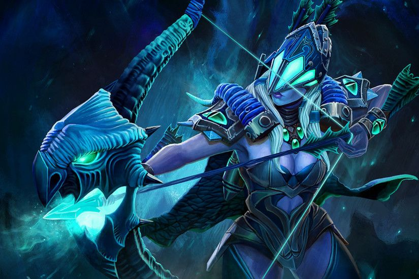 Dota 2, Loading Screen, Drow Ranger, Bows Wallpapers HD / Desktop and  Mobile Backgrounds