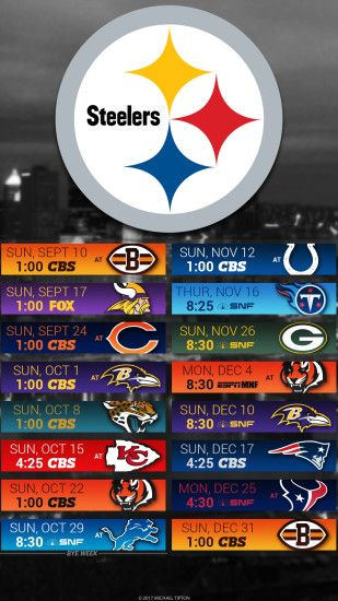 Pittsburgh Steelers 2017 schedule turf logo wallpaper free iphone 5, 6, 7,  ...