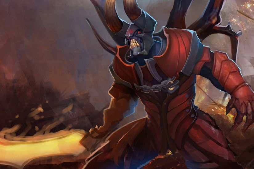 Preview wallpaper lucifer, doombringer, dota 2, art 1920x1080