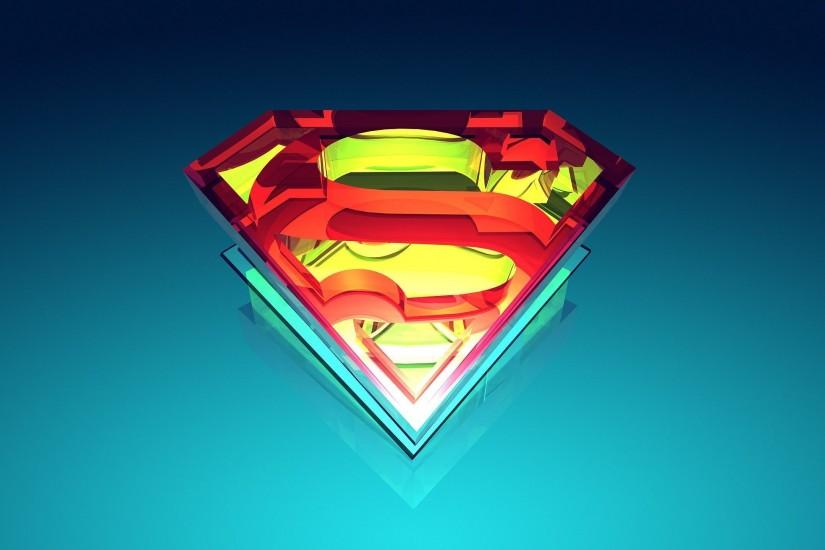 Abstract superman logo wallpaper.