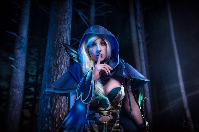 Beautiful Drow Ranger Keep Silence Wallpaper More