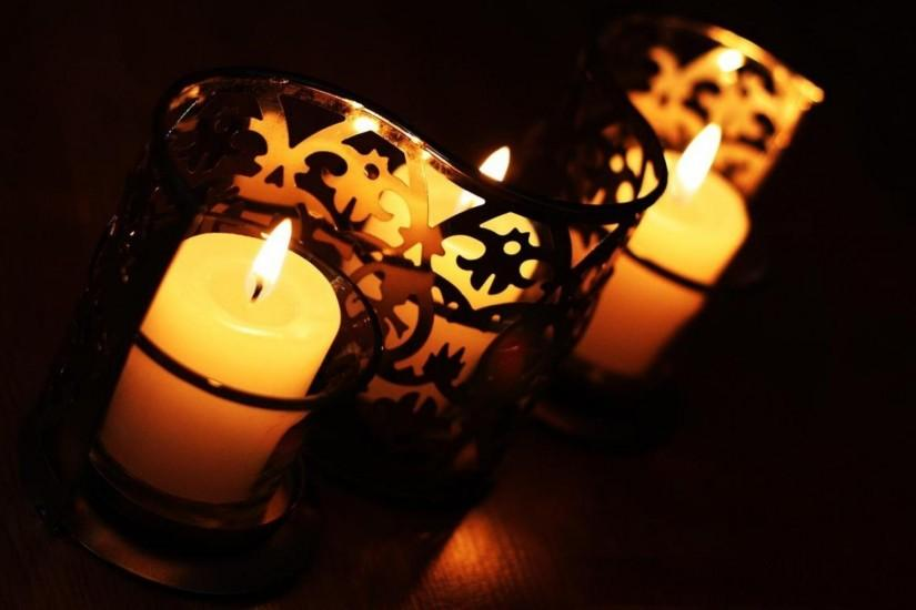 Candle lights in night superb wallpapers