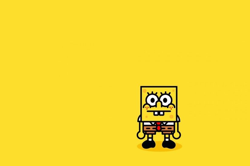 SpongeBob SquarePants, Minimalism, Simple background Wallpapers HD /  Desktop and Mobile Backgrounds