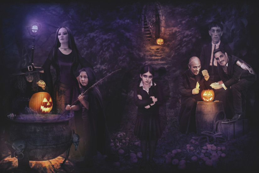 Addams Family Halloween Background