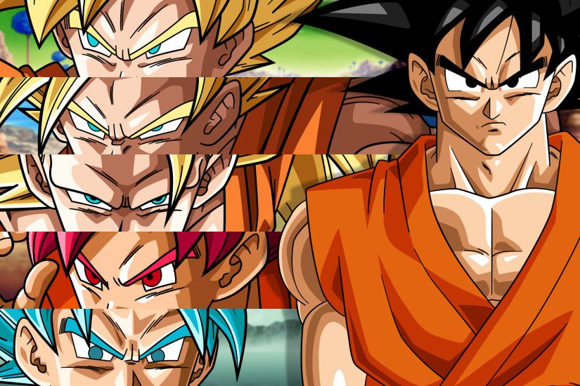 Goku Super Saiyan Transformation Dragon Ball Wallpaper