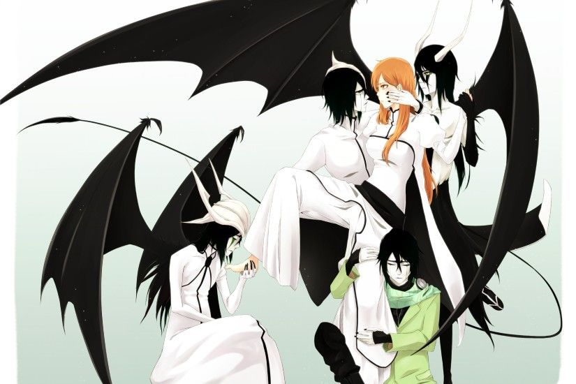 simple background · anime girls · Ulquiorra Cifer