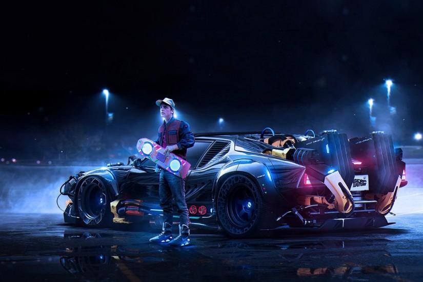 awesome Modern Back To The Future Wallpaper