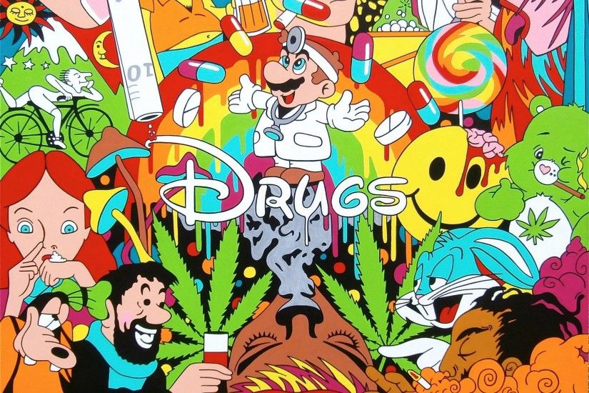 disney drugs weed princess goofy caracters phycedelic popai  lets-get-high-asfuck